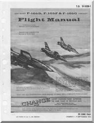 Republic F-105 D F G Aircraft Flight Handbook  Manual TO 1F-105D-1
