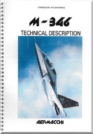 Aermacchi M-346 Aircraft Technical Brochure  Manual -  ( English Language )