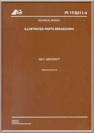 Aermacchi SIAI Marchetti S.211 PAF Aircraft Illustrated Parts Catalog  Manual, ( English Language )