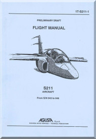 Aermacchi  / SIAI Marchetti S.211 Aircraft Preliminary Draft Flight  Manual, ( English Language )