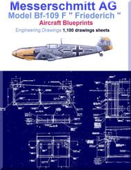 Messerschmitt Bf-109 F Aircraft Blueprints Engineering Drawings - DVD