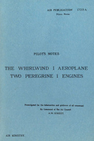 Westland Whirlwind  I Aircraft  Pilot's Notes Manual