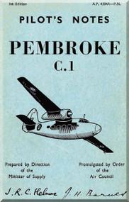 Percival Pembroke C.1  Aircraft  Pilot's Notes Manual -