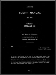 Short  Sealand  Mk. Ia  Aircraft  Flight Manual
