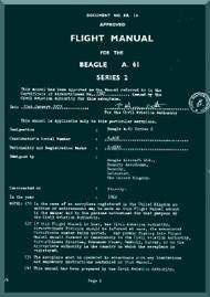Beagle A.61 Aircraft Flight Manual