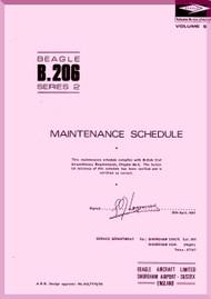 Beagle B.206 Aircraft Maintenance  Schedule Manual