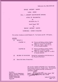 Beagle B.206 Aircraft Maintenance Manual