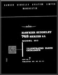 Avro Andover / Hawker Siddeley 748   Aircraft  Illustrated Parts Catalog Manual