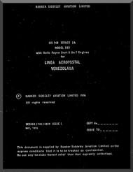 Avro Andover / BAe / Hawker Siddeley 748   Aircraft  Flight Manual