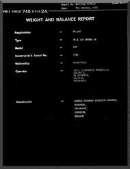Avro Andover / BAe / Hawker Siddeley 748   Aircraft  Weight and Load  Manual