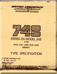 Avro Andover / BAe / Hawker Siddeley 748   Aircraft  Type Specification Manual