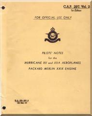 Hawker Hurricane XII Aircraft Pilot's Notes Manual