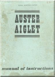 Auster Aiglet Aircraft Maintenance Instruction Manual