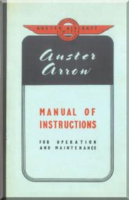 Auster Arrow  Aircraft Instruction  Manual