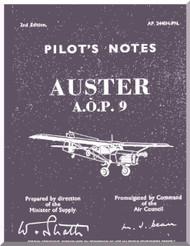 Auster A.O.P. 9 Aircraft Instructions Pilot's Notes Manual