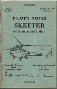 Saunders Roe Skeeter  Mk 10 11 Helicopter Pilot Notes  Manual