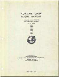 Convair 240 Aircraft Flight  Manual