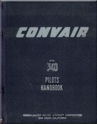 Convair 340 Aircraft Pilot Handbook Manual