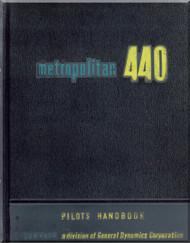 Convair 440 Aircraft Pilot Handbook Manual -