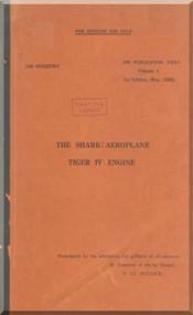 Blackburn Shark Aircraft Pilot's Notes Manual with Tiger Engine  -   Air Publication 1501, 1935