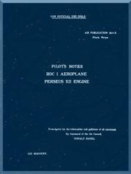 Blackburn Roc Aircraft Pilot's Notes Manual  -  Air Publication 1571 A