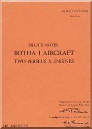 Blackburn Botha I Aircraft Pilot's Notes Manual