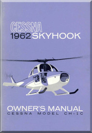 Cessna CH-1C SkyHook Helicopter Owner's Manual -  1962