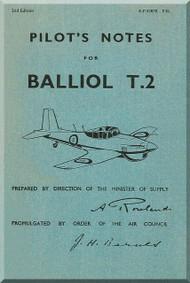 Boulton Paul Balliol T2 Aircraft Pilot's Notes Manual