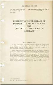 Boulton Paoul Defiant II  Aircraft  Structural Repair  Manual A.P. 1592 A, B , C & D Volume II