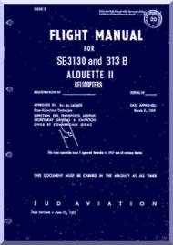 Sud Aviation  / SNCASE / Aerospatiale  SE 3160 SA-316 B  Alouette  III Helicopter  Flight  Manual  Rev. 2.1 - 1995