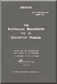 Bristol Beaufighter Mk.21  Aircraft Descriptive  Manual -  R.A.A.F No.615 , 1945