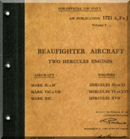 Bristol Beaufighter Aircraft Service Manual -  A.P. 1721 A,F, & J