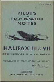 Handley Page Halifax III  & VII  Aircraft Pilot's Notes Manual