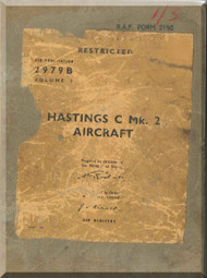 Handley Page Hastings C Mk.2   Aircraft  Service Manual -  AP 2979 B