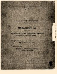 Handley Page / Miles  Marathon Aircraft  Specification Manual