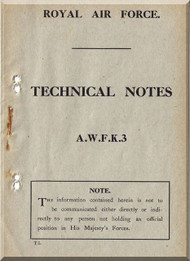 Armstrong Whitworth F.K.3 Aircraft Rigging Manual