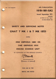Folland Gnat  Aircraft  Safety Service Notes Manual