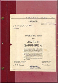 Gloster Javelin Sapphire 6  Aircraft Operating Manual