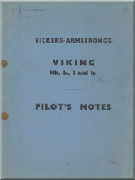 Vickers Viking Mk Ia I Ib Aircraft  Pilot's Notes Manual