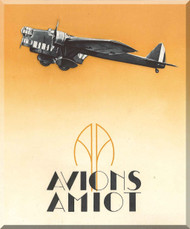 Amiot Avions 140 Aircraft Technical  Manual, 19 pages ( French Language )