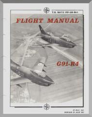 Aeritalia / FIAT G-91  R4 Aircraft Flight  Manual, ( English Language ) NATO 1RF-G91-R4-1 , 1961
