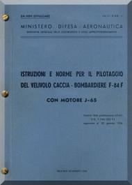 FIAT Republic F-84F Aircraft Instruction  Manual