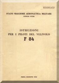 FIAT / Republic  F-84  Aircraft  Instruction Manual - 1952