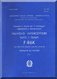 FIAT / NAA F-86 K Aircraft Maintenance Manual - General- Vol. 1