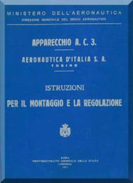 Fiat /  Aeronautica D'Italia  S.A.  AC.3  Aircraft Maintenance Manual