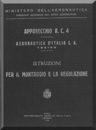 Fiat / Aeronautica D'Italia  S.A.  AC.4  Aircraft Maintenance Manual