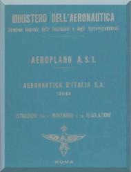 Fiat / Aeronautica D'Italia  S.A.  AS.1  Aircraft Maintenance Manual