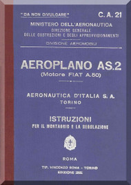 Fiat /   Aeronautica D'Italia  S.A.  AS.2  Aircraft Maintenance Manual