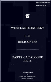 Sikorsky Westland  S-51 Helicopter  Parts Manual