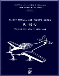 Piaggio P.149 U Aircraft Flight   Manual, Manuale di Pilotaggio ( English Language )